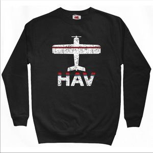Tops - Cuba - HAV Airport Sweatshirt Black M 🇨🇺